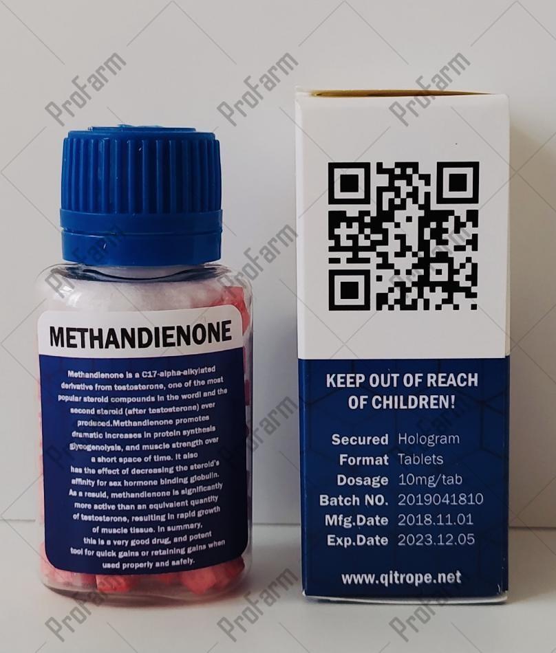 QPharm — Methandienone, 10mg/tab - ЦЕНА ЗА 100 ТАБ