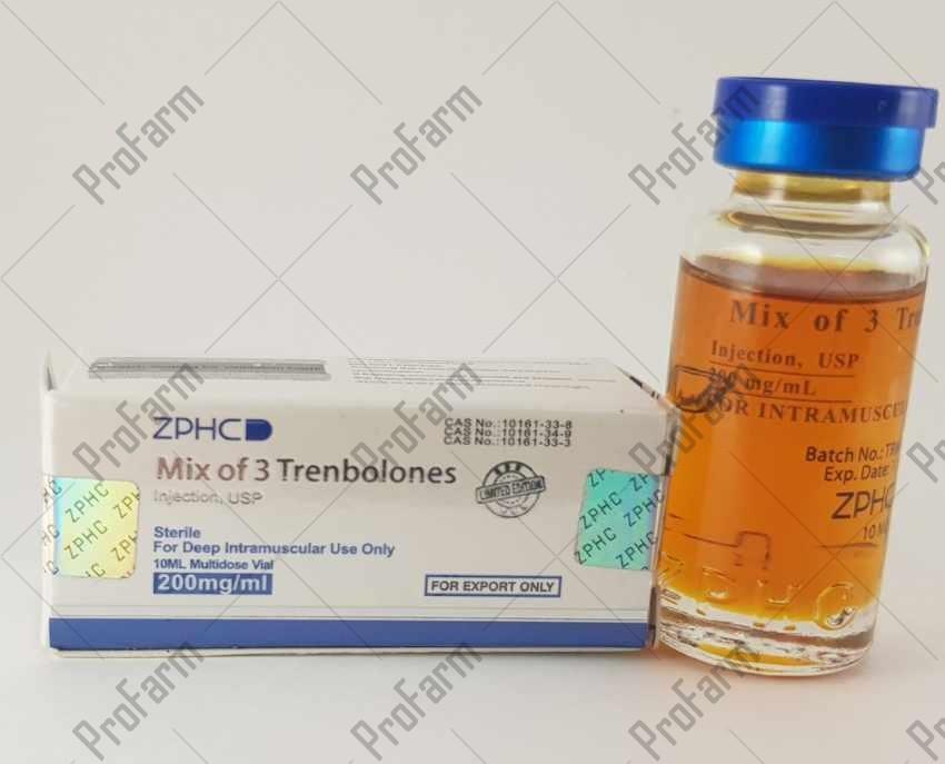 ZPHC Mix of 3 Trenbolones U.S.P 1ml 200mg (три трен), 10 мл.