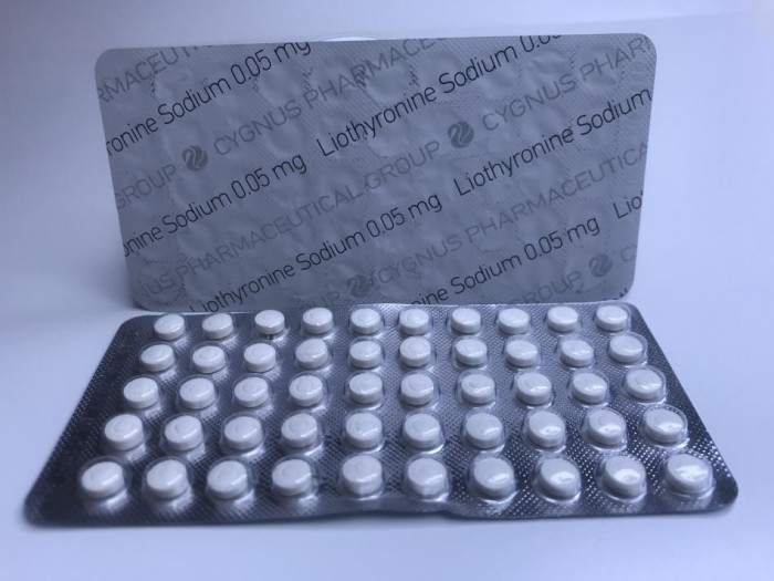 CYGNUS LIOTHYRONINE SODIUM (T3) 10MG/TAB - ЦЕНА ЗА 50ТАБ